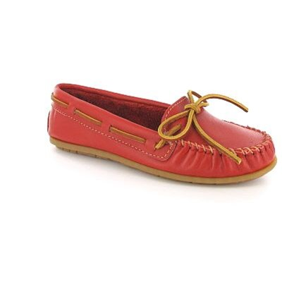 61 - Mocassins - en cuir rouge
