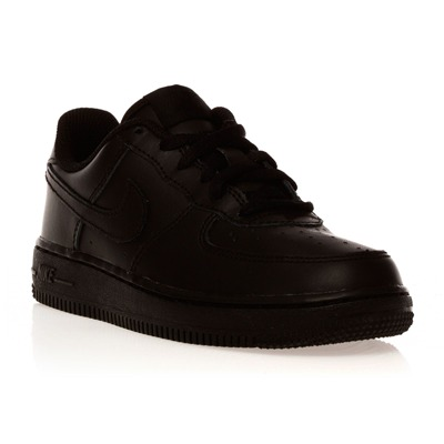 Air Force 1 Mid - Baskets en cuir - noir