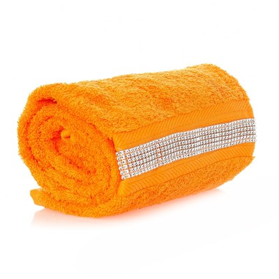 POUR SASHA Diamant - Drap de douche 70*140 cm - orange