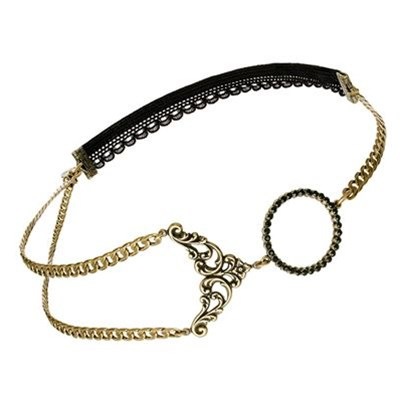 Salomé - Headband strass - noir