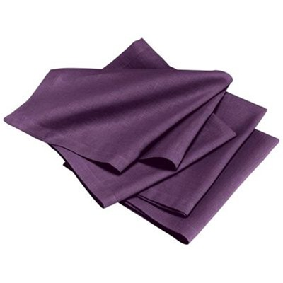 Metis - Lot de 4 serviettes - violet