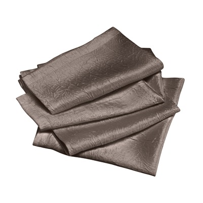 Lot de 4 serviettes de table - taupe