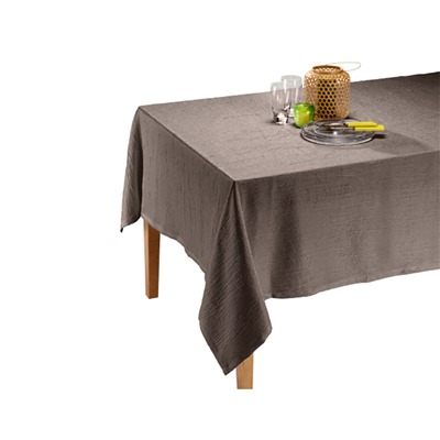 IFILHOME satiné - Nappe - taupe