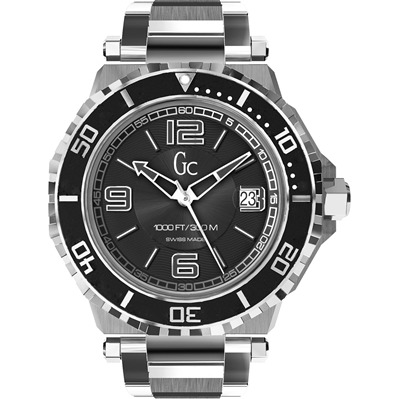Guess Collection montre bracelet acier inoxydable - argenté