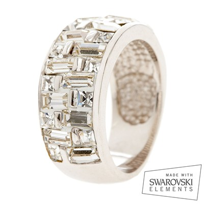 "Swarovski Elements - Bague ""Christal Scintillante"" - blanc"