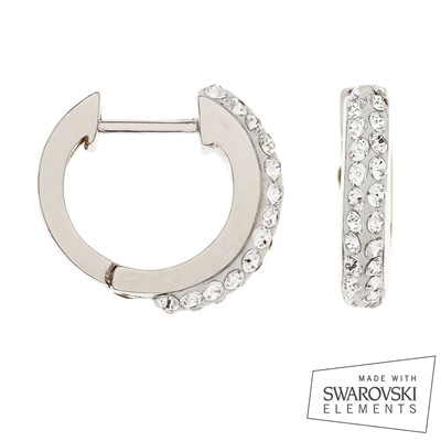 Swarovski Elements - Boucles d'oreilles - blanc