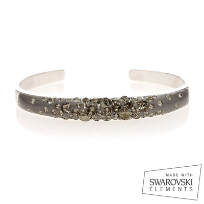 Jonc Magic Gris - Bracelet jonc orné de Swarovski Elements - gris