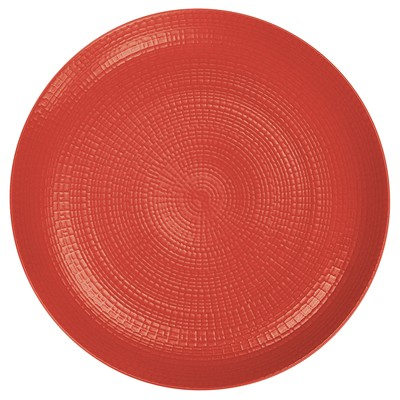 GUY DEGRENNE Modulo Nature Tomette - Lots de 3 assiettes plates - rouge