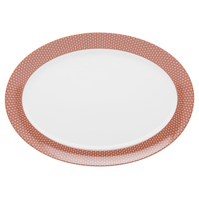 GUY DEGRENNE Romy Tomette - Plat oval - orange