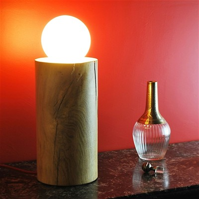 OPEN DESIGN Lune No 03 - Lampe de salon en bois design - beige