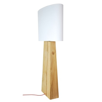 Totem No 004 - Lampe de table design en bois - beige