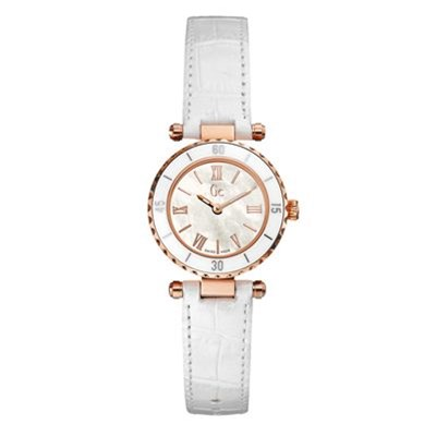 Guess Collection montre - bracelet en cuir blanc