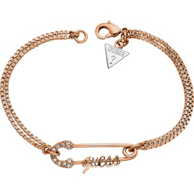 Epingle à strass - Bracelet - Or rose