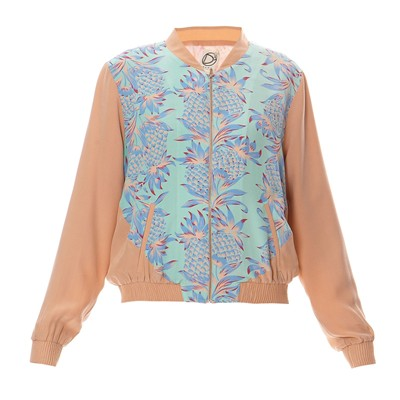 DRESS GALLERY Bombers - menthe et rose clair