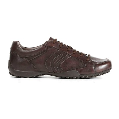 GEOX Tennis - en cuir marron