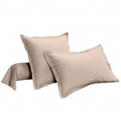 IFILHOME Uni - Taie d'oreiller pur coton - taupe