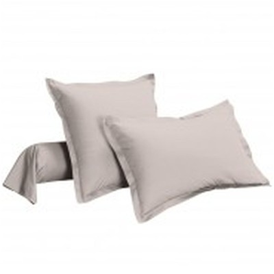 IFILHOME Uni - Taie d'oreiller percale pur coton - gris