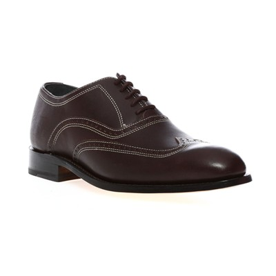 Derbies - en cuir brun