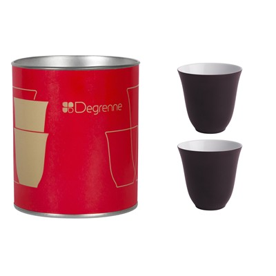 GUY DEGRENNE Illusions Rouge Baiser - Coffret 2 tasses moka