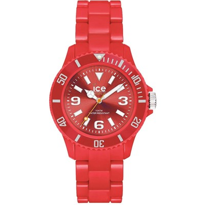 Ice Solid - Montre mixte - bracelet en silicone rouge