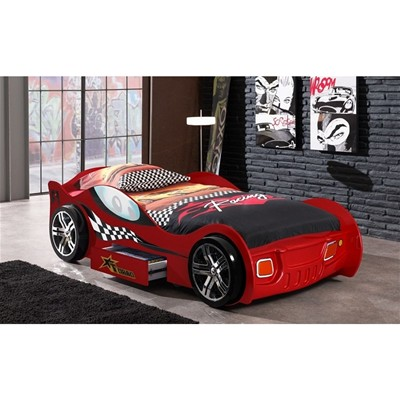 SOMEO Lit - enfant Voiture Turbo rouge 90*200cm