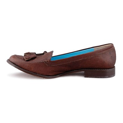 DESIGN Mocassins - en cuir marron