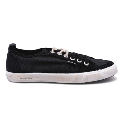 Peopleswalk FLY SUEDE POLYCANVAS - Baskets - noires