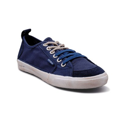 Peopleswalk FLY SUEDE POLYCANVAS - Baskets - bleues marine