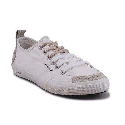 Peopleswalk FLY SUEDE POLYCANVAS - Baskets - blanches