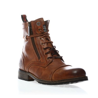 PEPE JEANS FOOTWEAR MELTING ZIPPER - Boots - en cuir marron