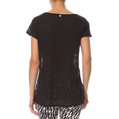 NIKE TOUCH BREEZE STRIPE SS - T-shirt - noir