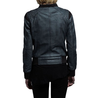 Antracite Cuir En Way Usual Blouson 4qafpnx6W