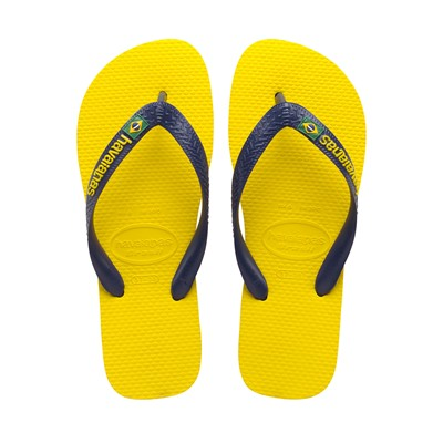 brasil logo citrus yellow - Tongs - jaunes et bleu marine