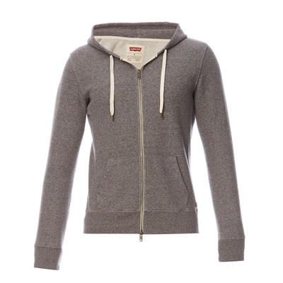 Original zip Up Hoodie - Sweat zippé à capuche - gris chiné