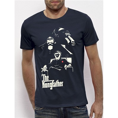 MONSIEUR POULET Kongfather - T-shirt - bleu marine