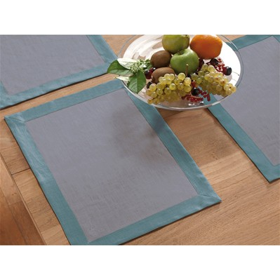 Lot de 2 sets de table - gris souris et céladon