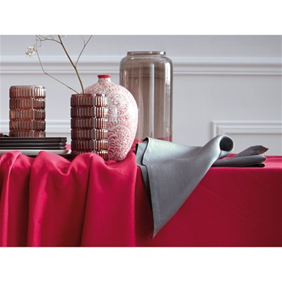 Blanc Cerise delices de lin - lot de 2 serviettes de table - delices de lin gris souris