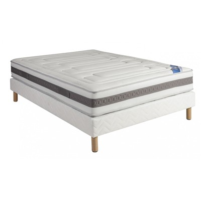 SOMEO Mekong Royal - Ensemble Someo Matelas Mekong Royal 2014   Sommier   Pieds 90x190 - blanc