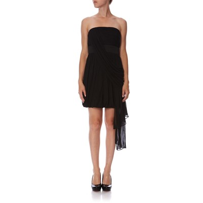 KNIT COCKTAIL DRESS - noir