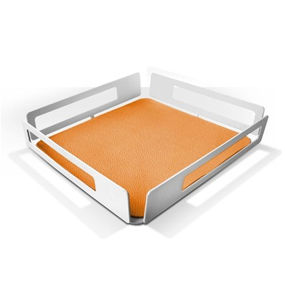 Home Pocket - Vide poche orange - blanc