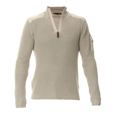 PAUL STRAGAS Pull col camionneur - beige