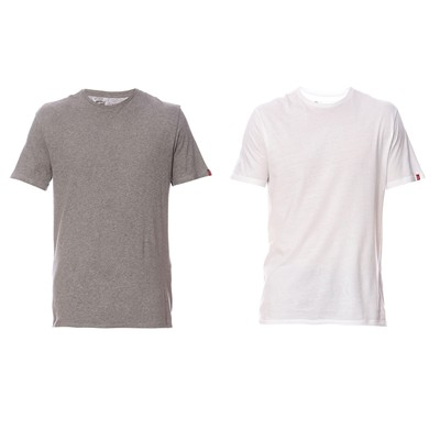 Pack - 2 T-shirt slim - blanc et gris chiné