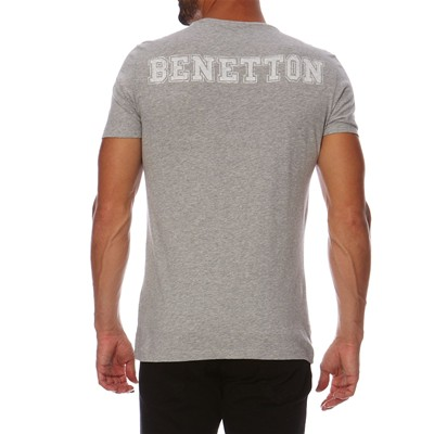 BENETTON T-shirt - gris chiné