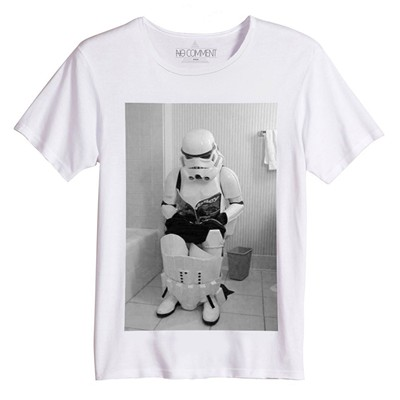 NO COMMENT PARIS Star Wars Trooper - T-shirt - blanc
