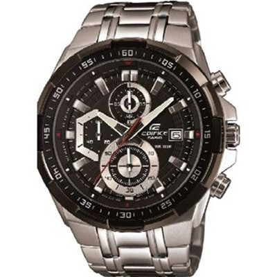 casio casio edifice montre argent noir brandalley. Black Bedroom Furniture Sets. Home Design Ideas