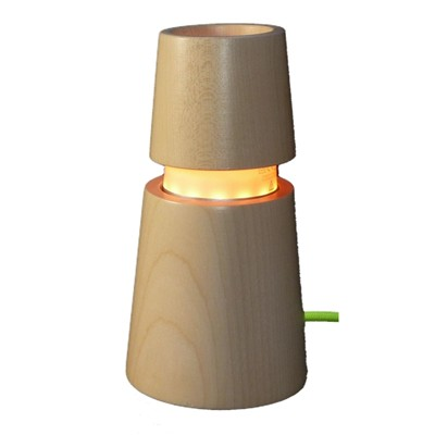 ARTWOOD CREATIONS MuSyca - Lampe design en bois connectée Bluetooth conique color - Blanc cassé