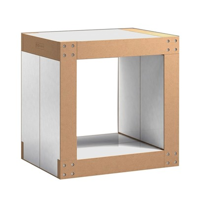 FABULEM Table d'appoint cubique 4 modules - blanc