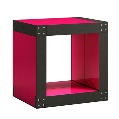 FABULEM Table d'appoint modulable 4 lems - rouge