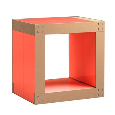 Fabulem Table d'appoint 4 lems - rose fluo