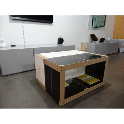 Table basse modulable en bois polymère 6 modules - noir